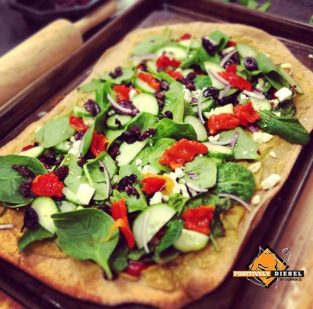 Healthy Hummus Pizza