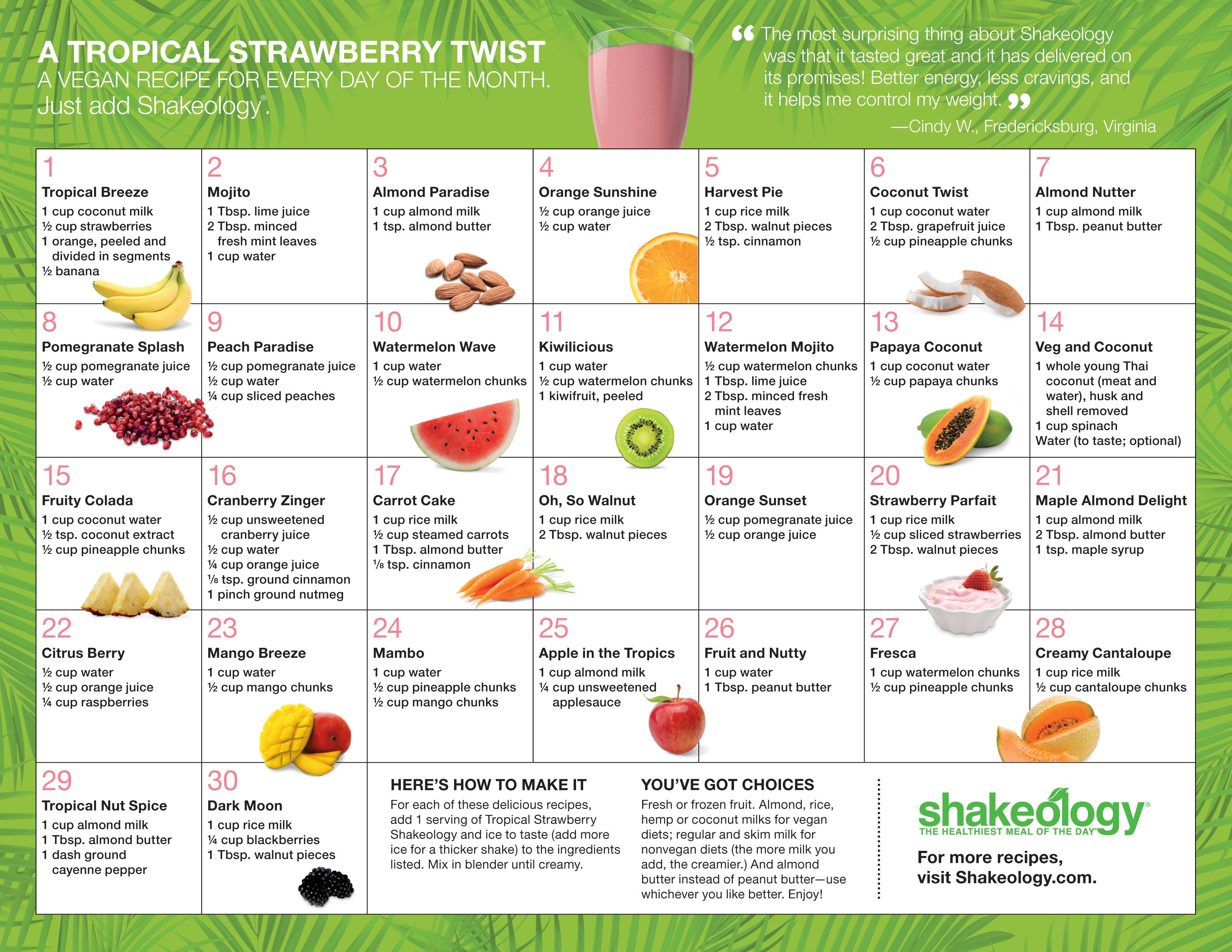 Tropical Strawberry Calendar #1